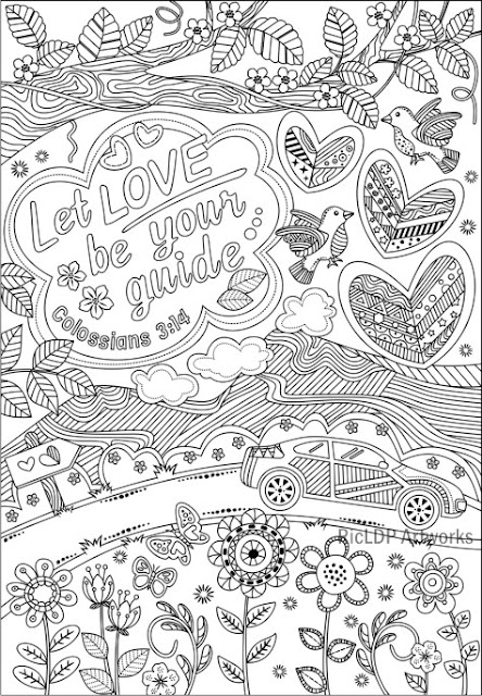 Let love be your guide coloring page