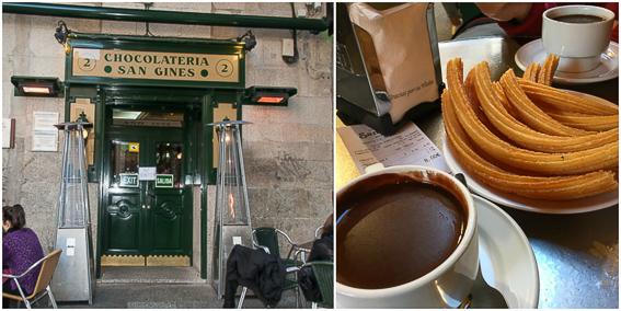 Chocolateria San Gines. Ruta lowcosto por Madrid