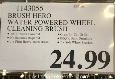 Deal for the Brush Hero Water Powered Wheel Cleaning Tool at Costco