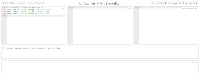 Tutorial Create HTML Live Editor With GitHub Hosting
