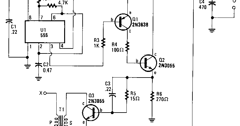 Battery powered high voltage generator Circuit Diagram