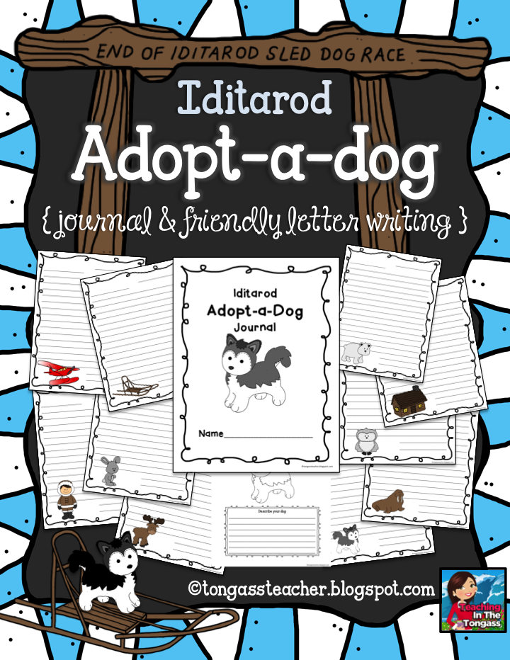 http://www.teacherspayteachers.com/Product/Iditarod-Adopt-a-Dog-Journal-624803
