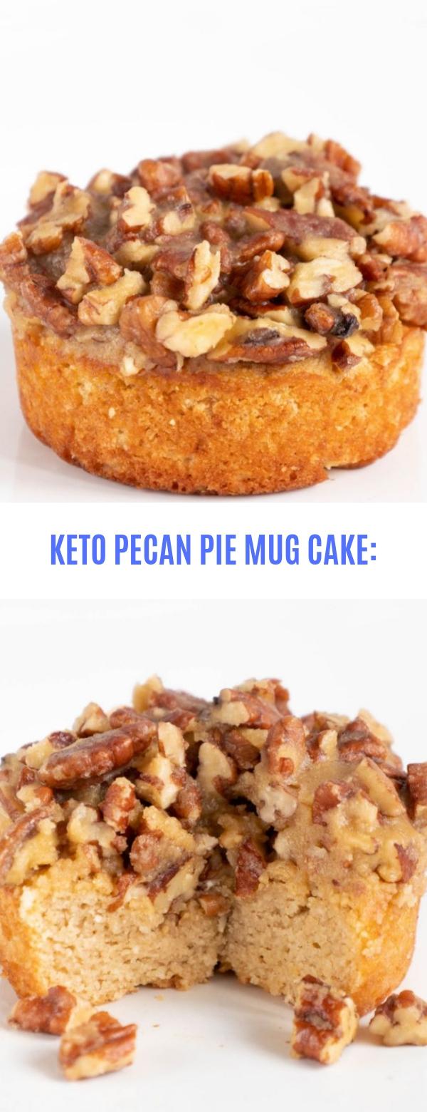 KETO PECAN PIE MUG CAKE: