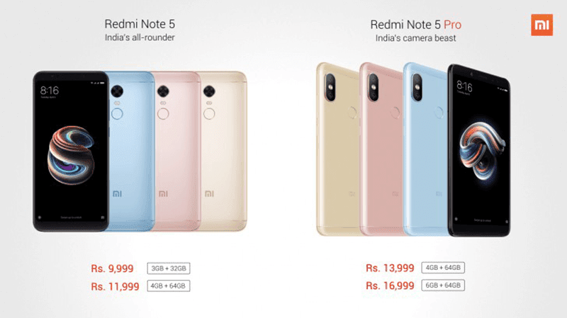 Xiaomi Redmi Note 5 and Redmi Note 5 Pro now official!