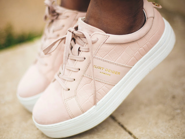 PINK LADBROOK TRAINERS FROM KURT GEIGER