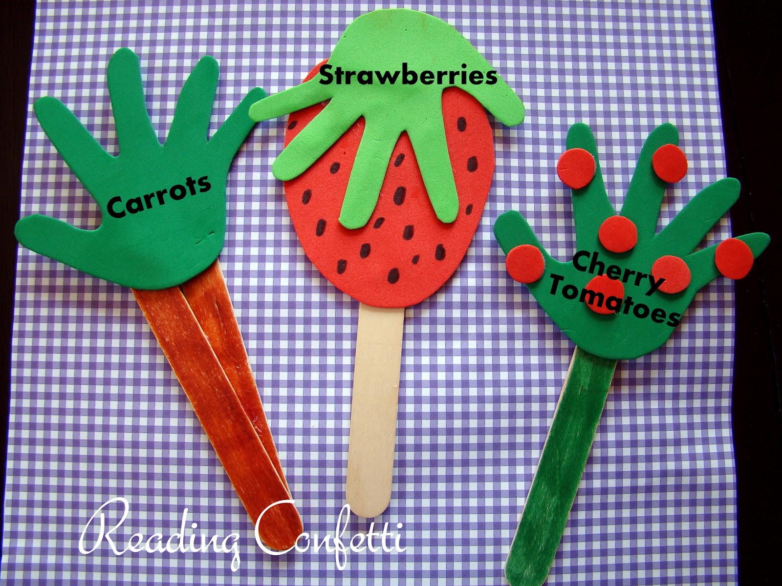 Handprint Garden Markers & Gardening Books For Kids