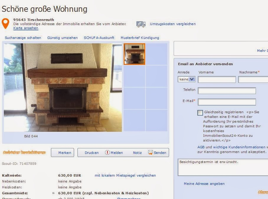 sch ne gro e wohnung 95643 tirschenreuth vorkassebetrug fraud scam. Black Bedroom Furniture Sets. Home Design Ideas