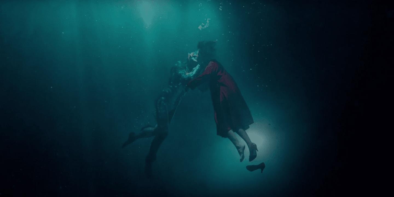 LA FORMA DEL AGUA, de Guillermo del Toro - escena acuatica