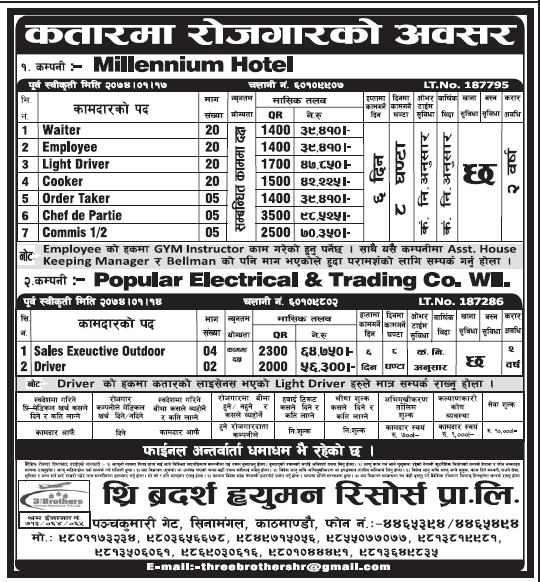 Jobs in Qatar for Nepali, Salary Rs 98,525