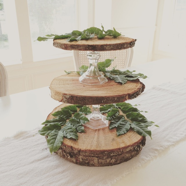 Little Farmstead Rustic 3 Tier Cupcake Stand