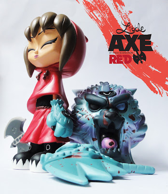 ESC Toy - Little Axe Red Resin Figure Set by Erick Scarecrow