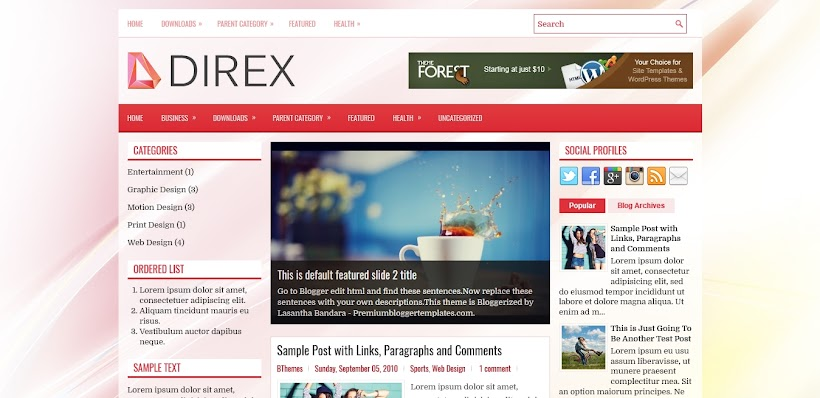 Direx Free Blogger Template