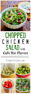 Chopped Chicken Salad with Cafe Rio Flavors found on KalynsKitchen.com