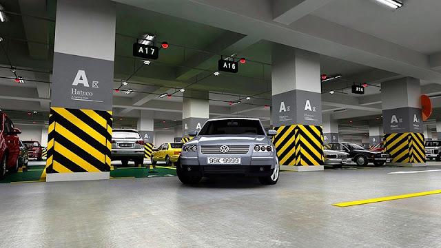 Tầng hầm đỗ xe hiện đại