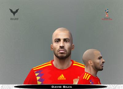 PES 6 Faces David Silva by Adam & The Kid Facemaker