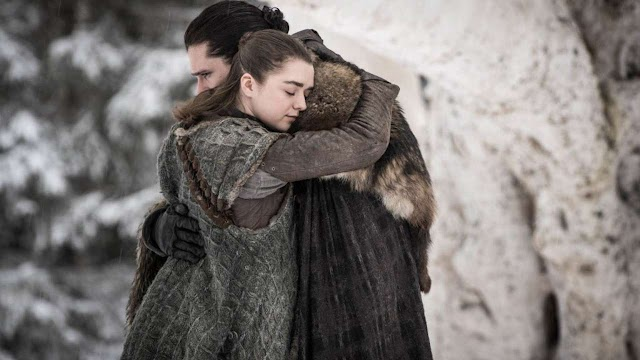 Game of Thrones S8E1 Recap. Jon knows the truth, Re-unites with Arya and Bran. Theon saves Yara.  Jon vs Daenerys? Our review.  Images Inside