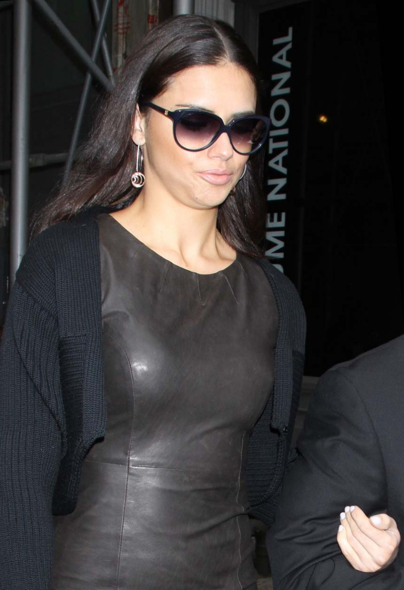 Leather Leather Leather Blog: Adriana Lima Leather Dress (HQ)