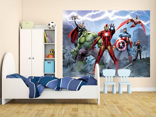 Barntapet Pojke Tapet Barnrum Pojke Fototapet Barn Barntapeter Avengers Marvel