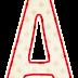 Original Alfabeto con Rombos y Orilla Roja.