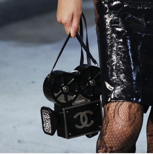 87f3aeedbcc47c Chanel Métier d'Art Pre-Fall 2016 at Cinecittà in Rome: Old-Fashioned Movie  Camera Bags. (Spotted)