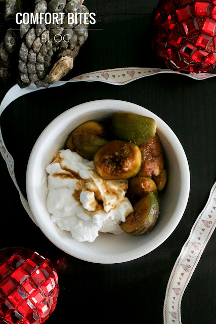 Marinated Warm Rum Spiced Figs with Coconut and Honey Yoghurt Paleo