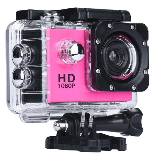 hot pink action camera - 1080P full hd - less than £15 - GoPro alternative