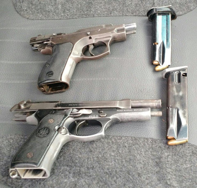 Em Cruzeiro do Sul, Polícia Militar apreende duas pistolas municiadas