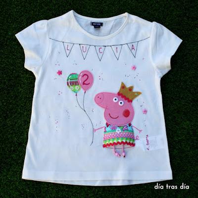 Camiseta Peppa Pig personalizada