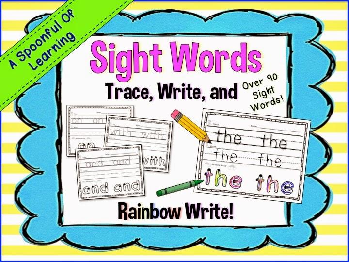 Sight Words: Trace, Write, Rainbow Write
