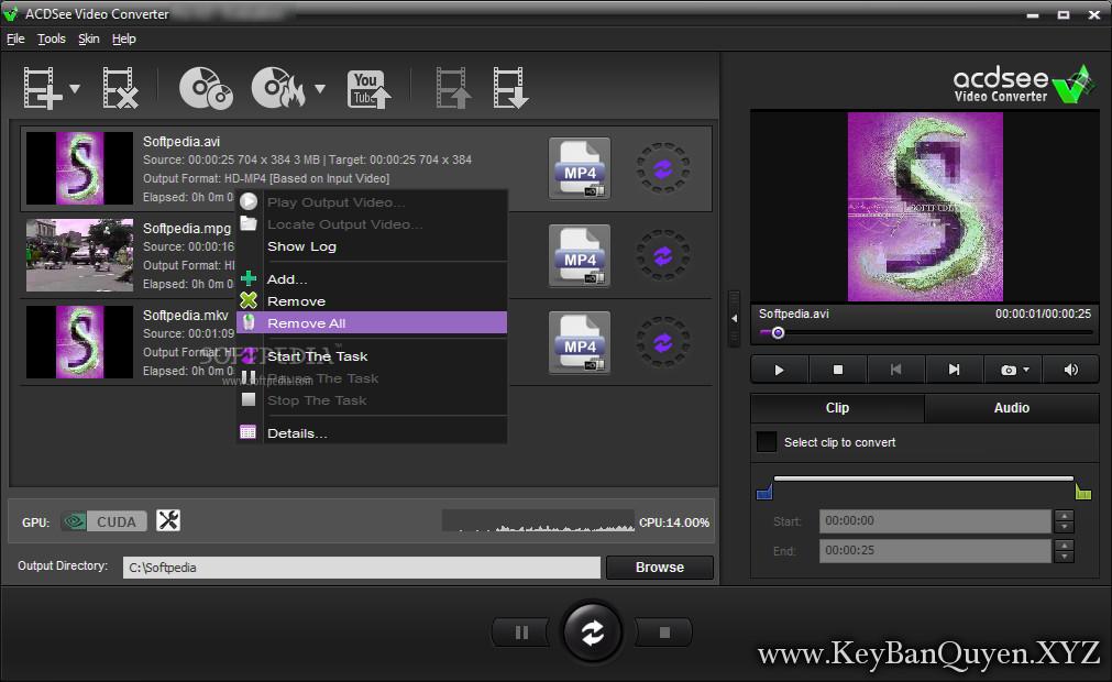 ACDSee Video Converter Pro 5 Full Key Download, Phần mềm chuyển đối Video nhanh gọn.