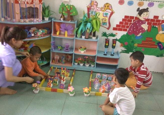 Sáng kiến kinh nghiệm mầm non hoạt động góc cho trẻ 4 - 5 tuổi