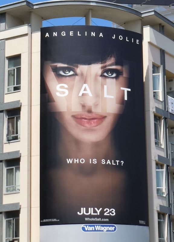 Angelina Jolie Salt movie billboard