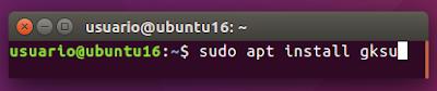 sudo apt install gksu