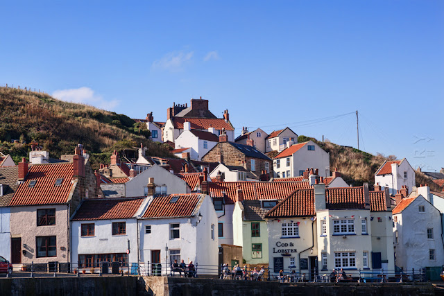 Coastal houses in Staithes North Yorkshire by Martyn Ferry Photography
