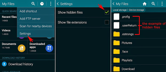 hide your personal file on android without any app