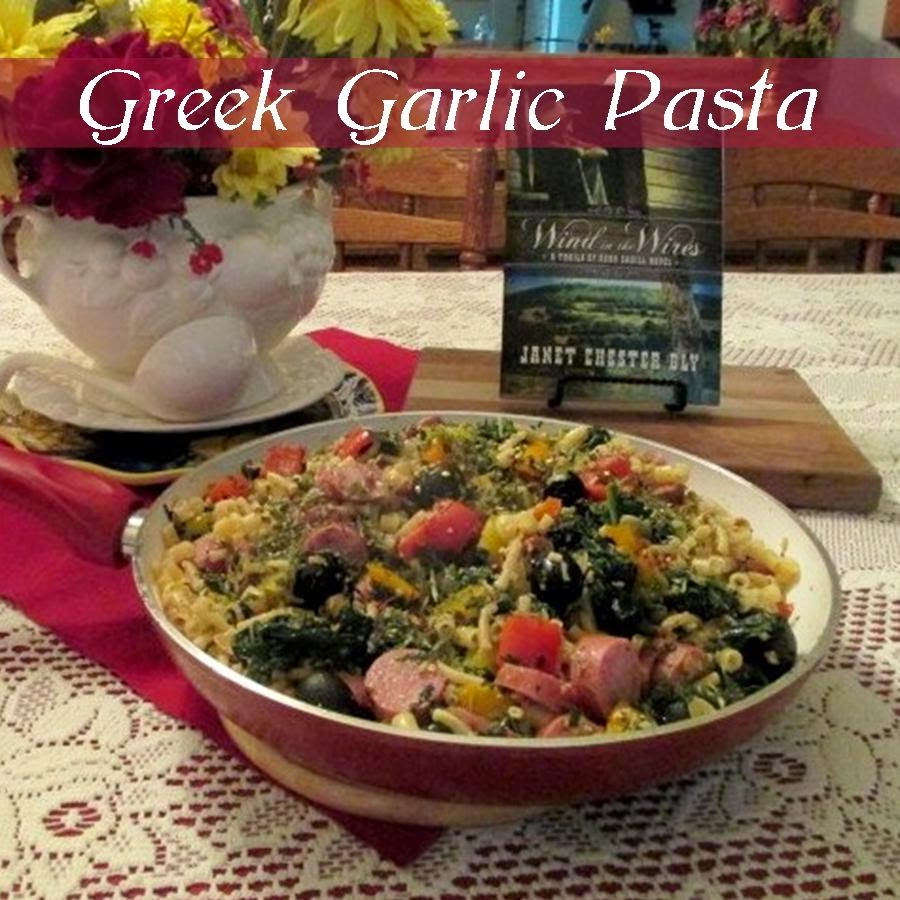 Greek Garlic Pasta