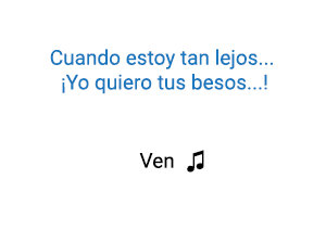 Fonseca Ven significado de la canción.
