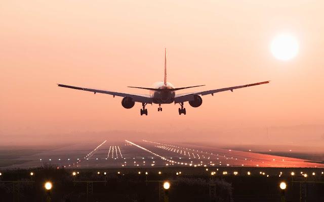 pesawat take off