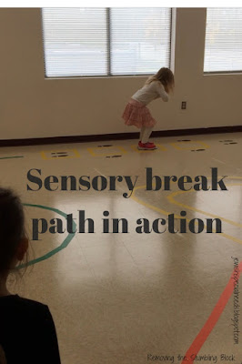 Sensory Break Path in action; Removing the Stumbling Block