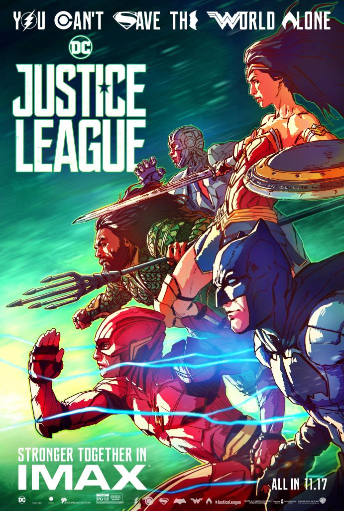 Justice League : Collectible Covers Gives Closer Look At The League, And IMAX Posters Revealed.