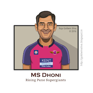 msdhoni cartoon caricature rising pune supergiants
