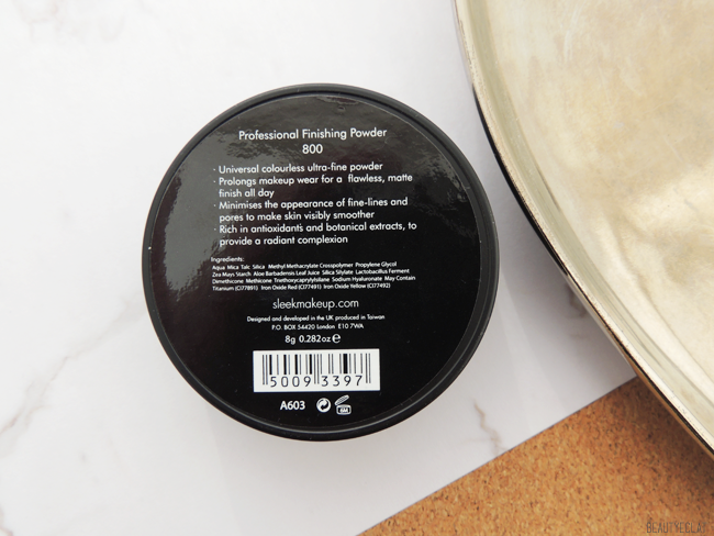 revue avis test sleek makeup professional finishing powder poudre libre