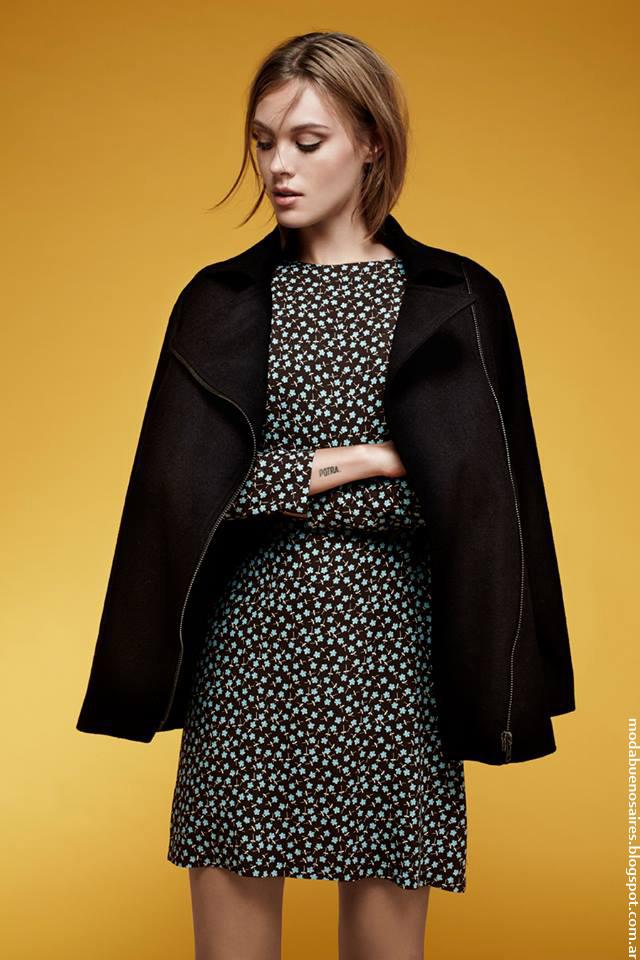 Vestidos y tapados Chocolate otoño invierno 2016 moda mujer. Moda otoño invierno 2016.