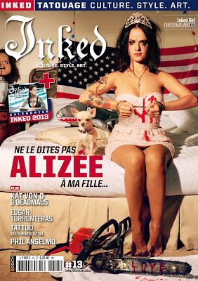Inked Magazine Alizee tattoos
