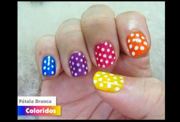 Decoracion de uñas con varios colores - hermosas uñas - lindas y tiernas para aprender