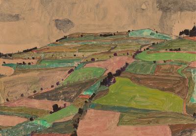 Egon Schiele - Field Landscape (Kreutzberg near Krunau) 1910