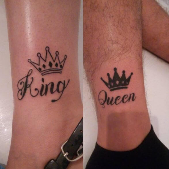 165 top king and queen tattoos for couples 2018 page for King queen tattoos