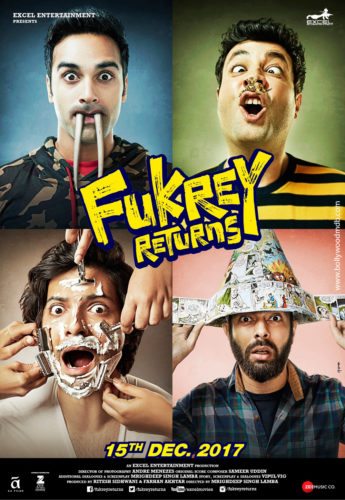 Fukrey Returns 2017 Hindi Movie Pre DVDRip x264 350MB Full Movie watch Online Download Full Movie 9xmovies word4ufree moviescounter bolly4u 300mb movie