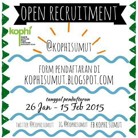 Open Recruitment KOPHI SUMUT 2015