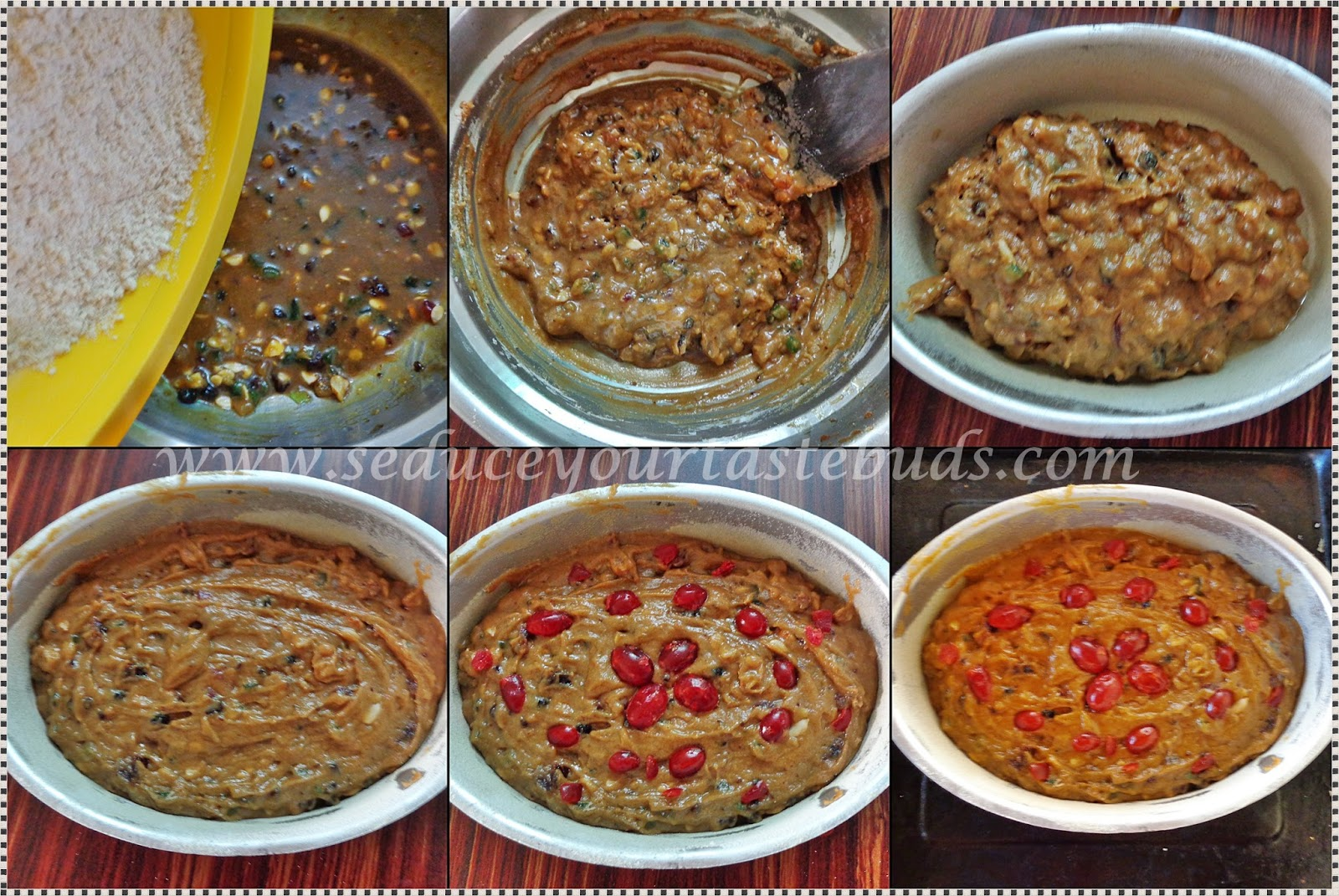 how to make eggless dry fruit cake